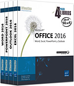 Microsoft® Office 2016 - Pack 4 libros: Word, Excel, PowerPoint y Outlook