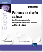 Patrones de diseño en Java, libro java, libro patrones de diseño, libro design patterns, uml, uml2, uml 2, GoF, POO, MVC, pieza de diseño, patron de diseño, Abstract Factory, Builder, Factory Method, Prototype, Singleton, Adapter, Bridge, Composite, Decorator, Façade, Flyweight, Proxy, Chain of Responsibility, Command, Interpreter, Iterator, Mediator, Memento, Observer, State, Strategy, Template Method, Visitor